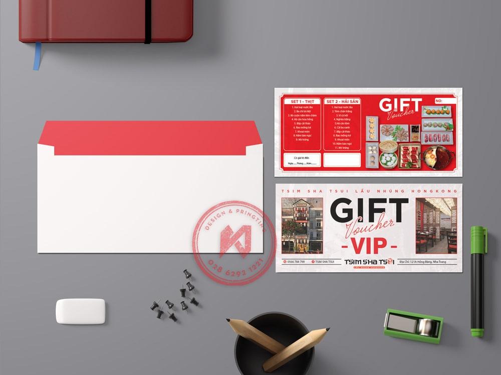 Gift voucher VIP thương hiệu Tsim Sha Tsui