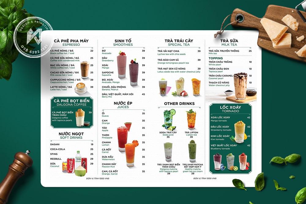 Ben menu Coffee & Milk Tea