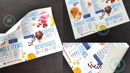 Sản phẩm mới: menu nhựa xé không rách, không thấm nước