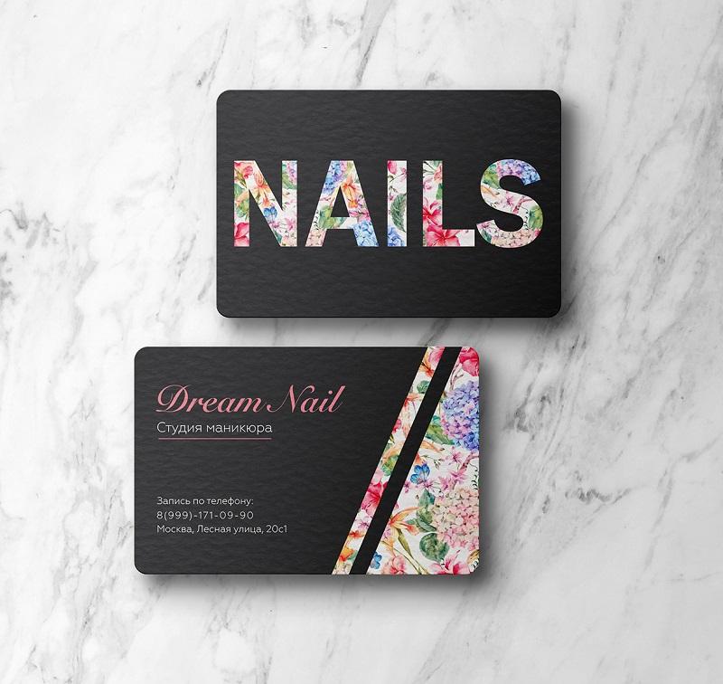 Thiết kế menu Nails ấn tượng