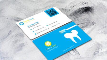 In card visit nha khoa, phòng khám răng hàm chuẩn đẹp.