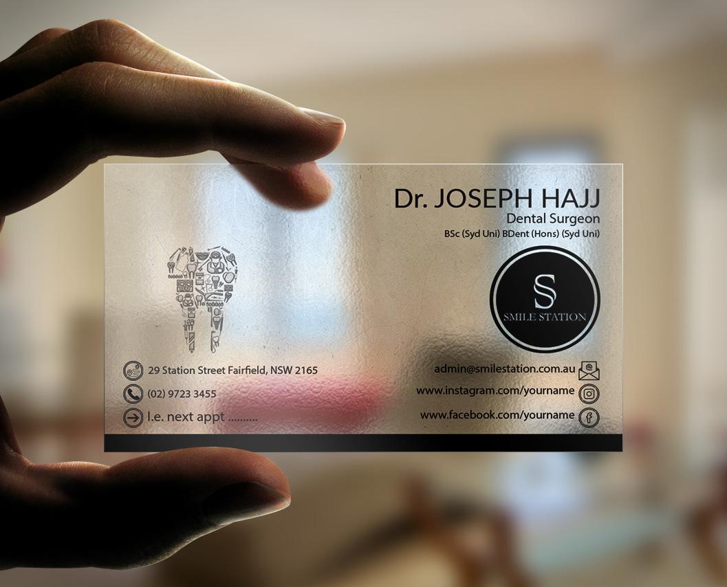 Địa chỉ in card visit nha khoa bằng nhựa trong