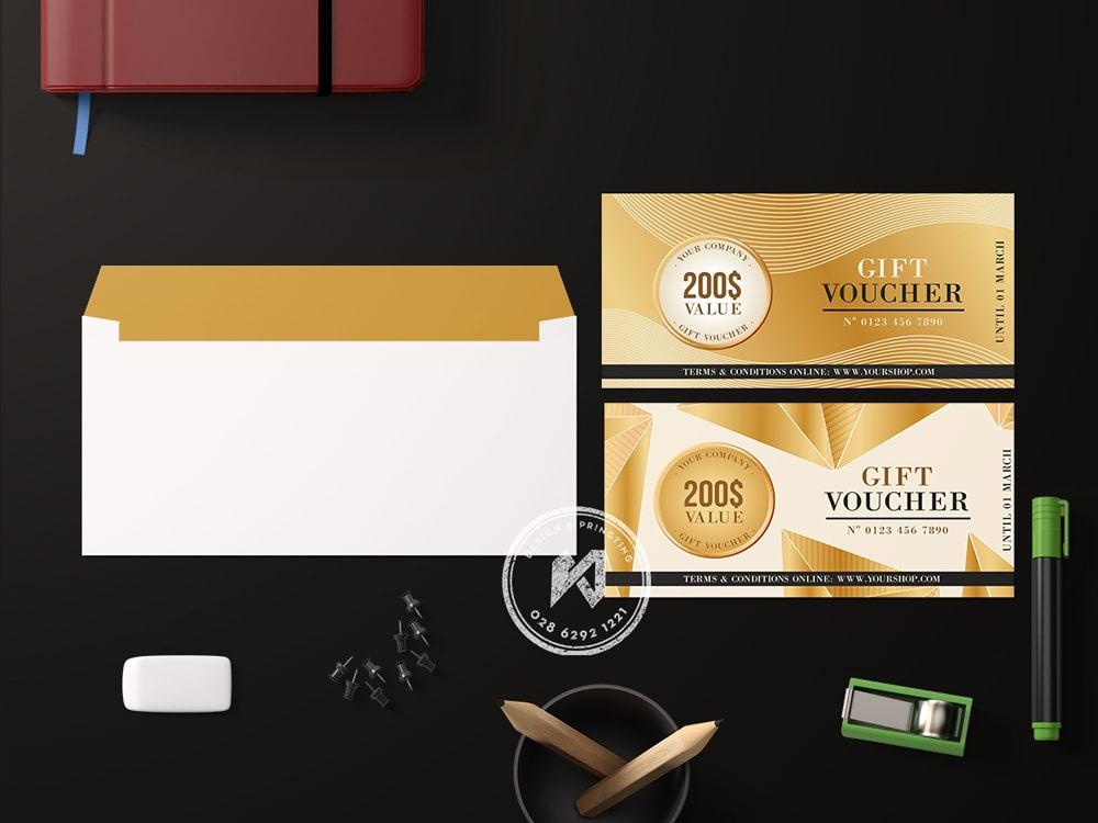 Thiết kế gift voucher luxury beauty