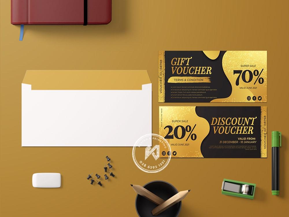 Thiết kế & in discount voucher