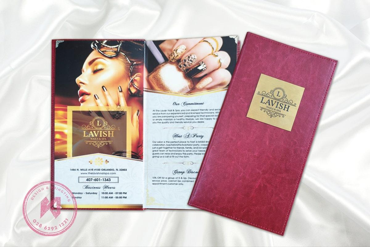 Bìa menu da Lavish