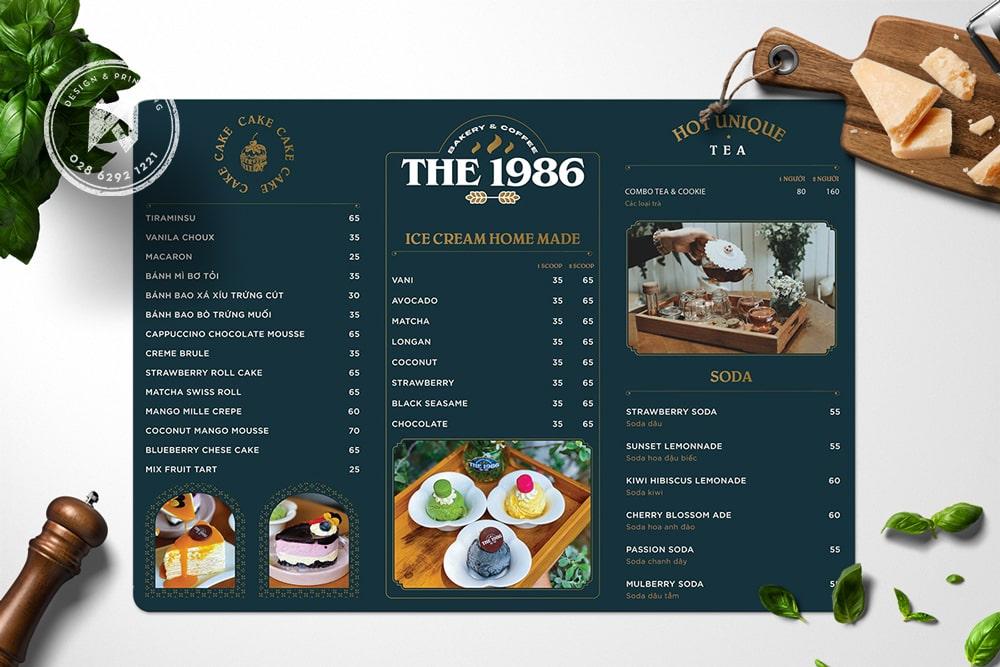 The 1986 - Coffee Menu Vintage