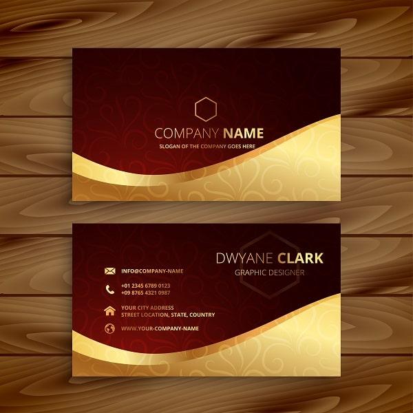 Mẫu name card cá nhân luxury