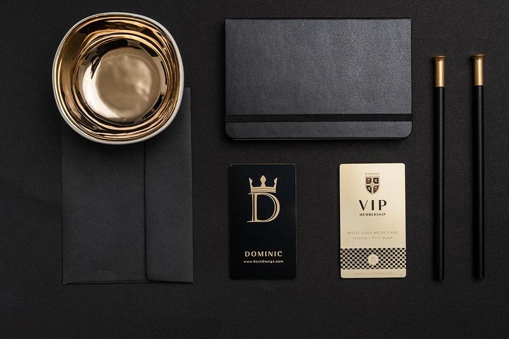In card visit vàng gold ấn tượng