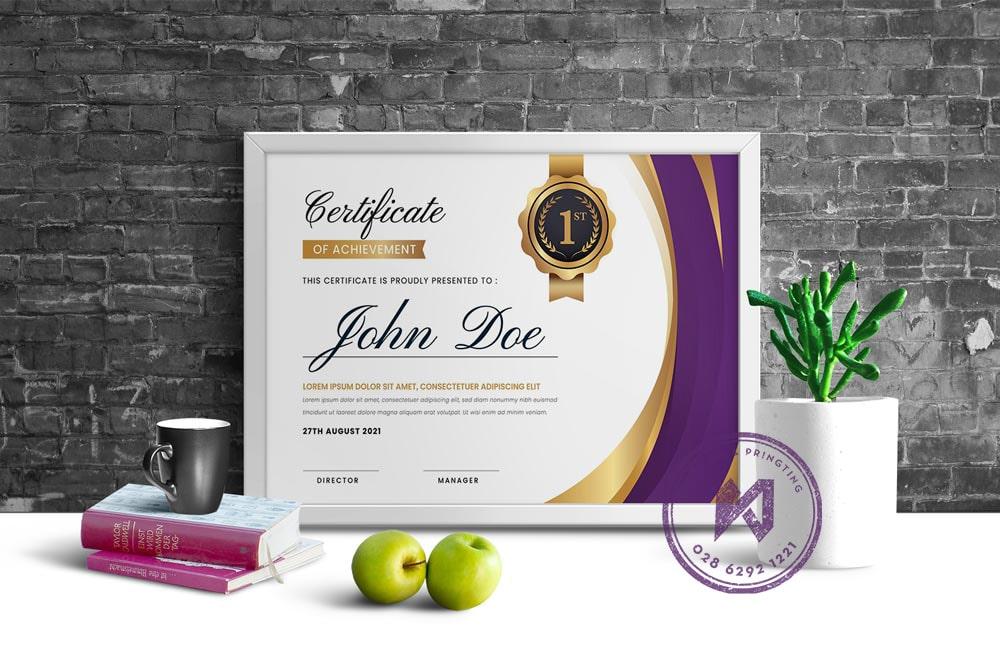 Thiết kế giấy khen công ty chuyên nghiệp
