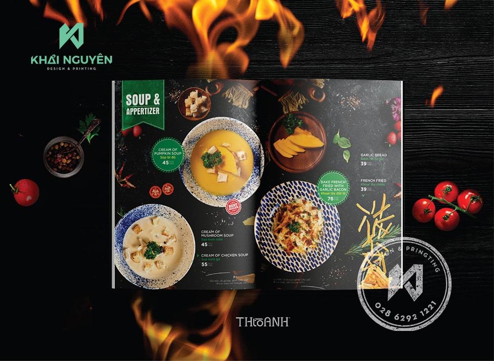 Tham khảo bộ font thiết kế menu nhà hàng Mr Bistek