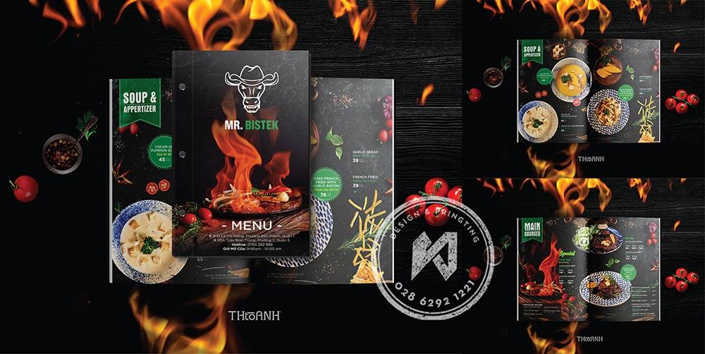Bộ font chữ thiết kế menu nhà hàng BBQ