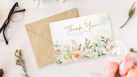 Mẫu thiệp cảm ơn đẹp, thank you card đầy ý nghĩa.